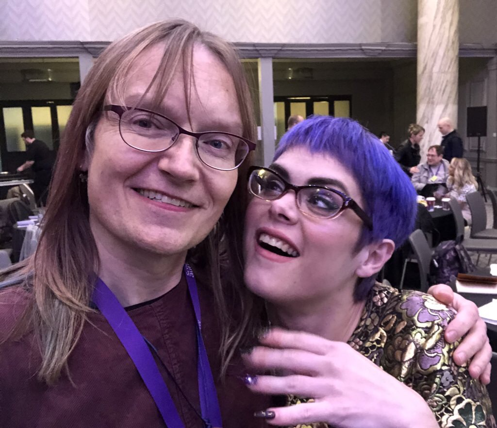 Anna and Sara at the Scottish Autism conference